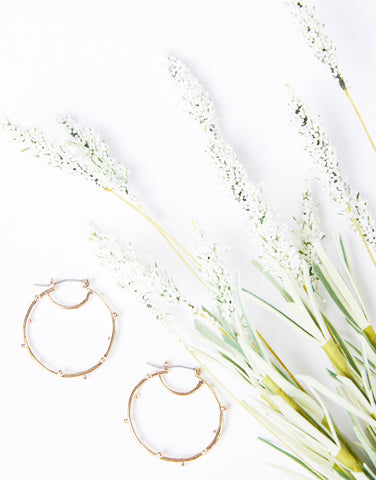 Mini Heart Of Gold Hoop Earrings