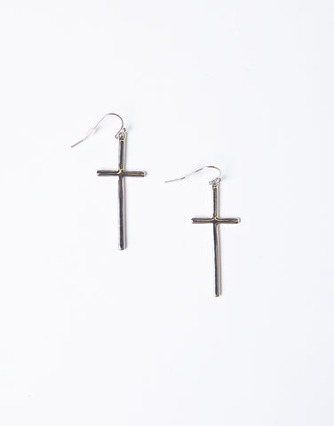 Minimal Cross Earrings