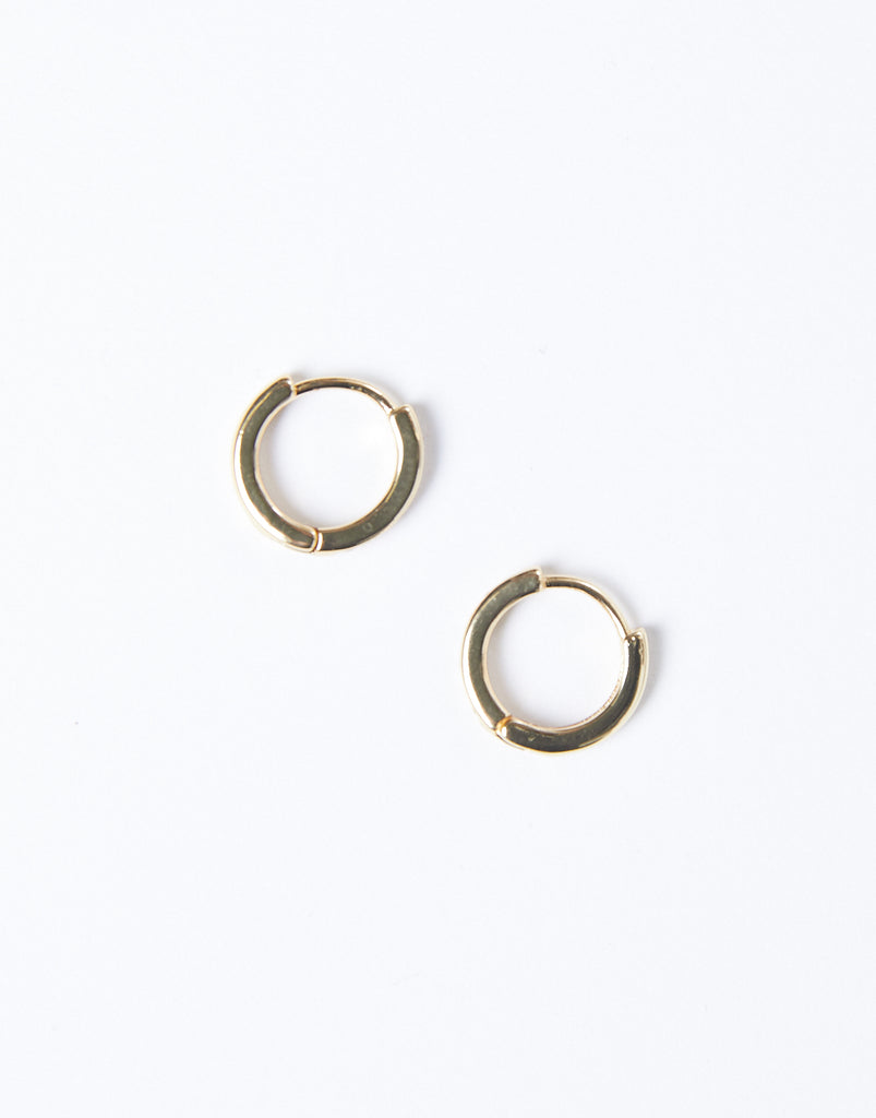 Minimal Gemmed Hoop Jewelry Gold One Size -2020AVE