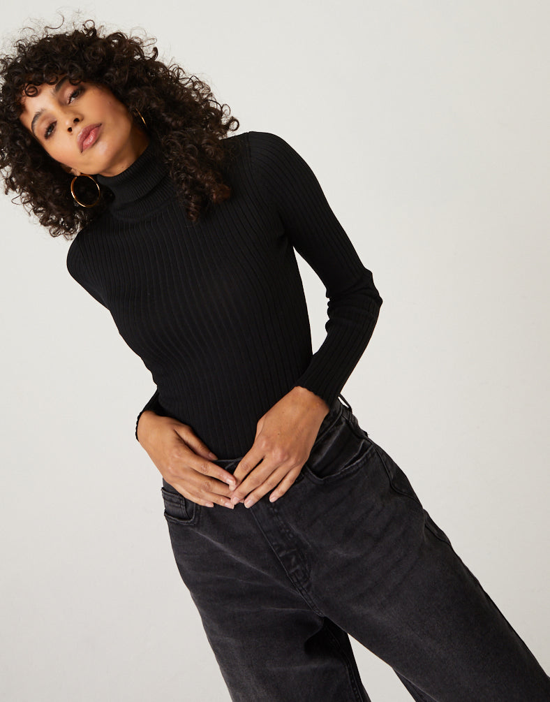 Fitted Turtleneck Top Tops -2020AVE