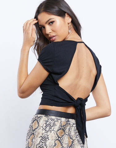 Missing You Open Tie Back Top