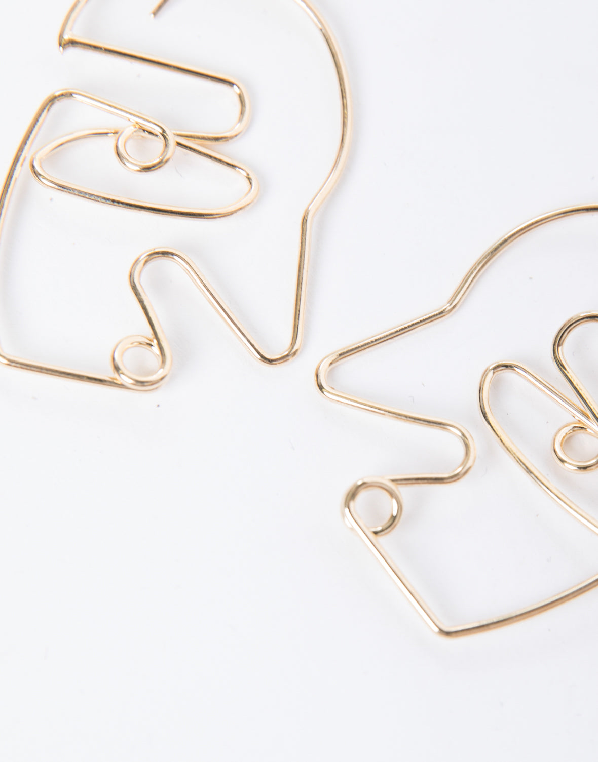 Modern Art Face Earrings