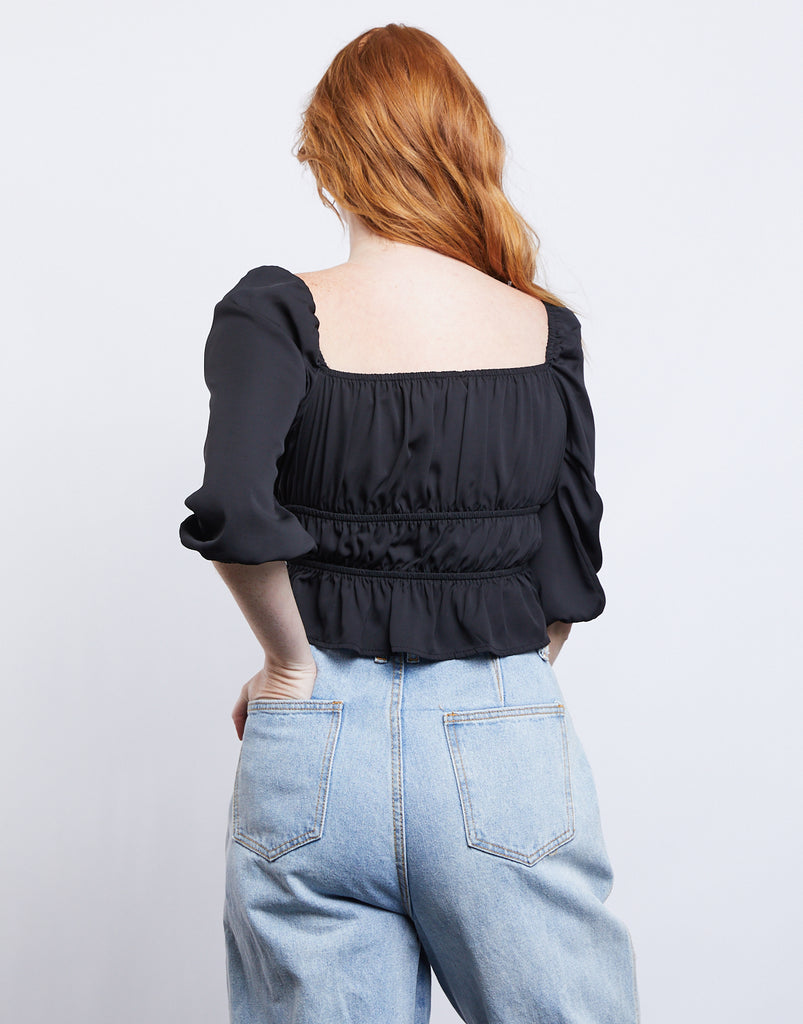 Molly Puffed Sleeve Top Tops -2020AVE
