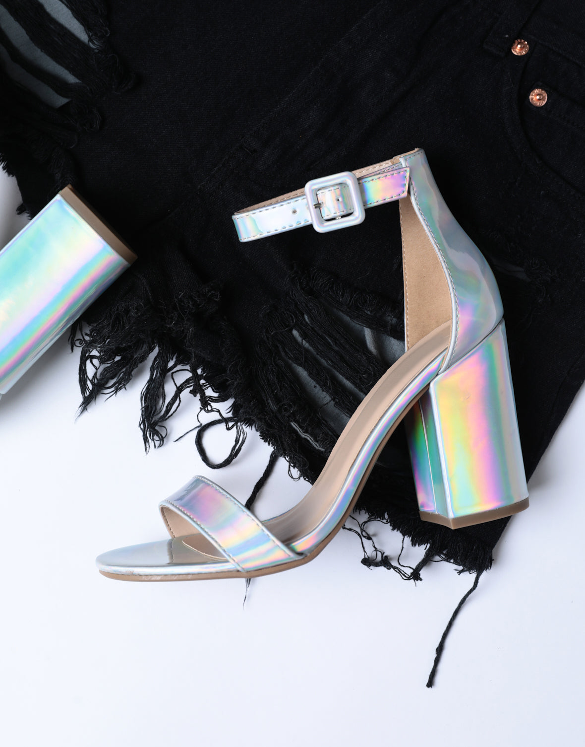 Moon Child Iridescent Heels