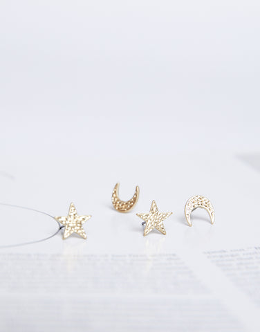 Moons And Stars Earring Set