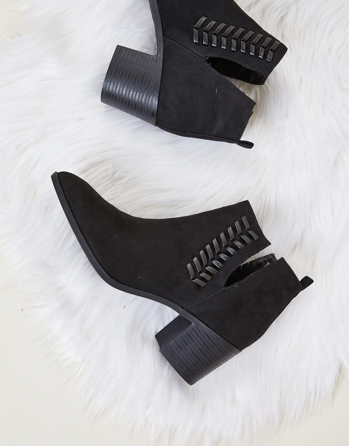 Move Along Suede Booties