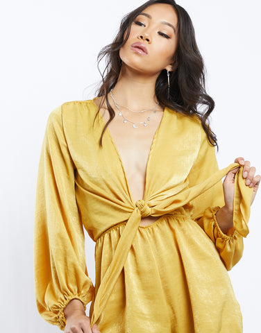 My Little Sunshine Tie Front Romper