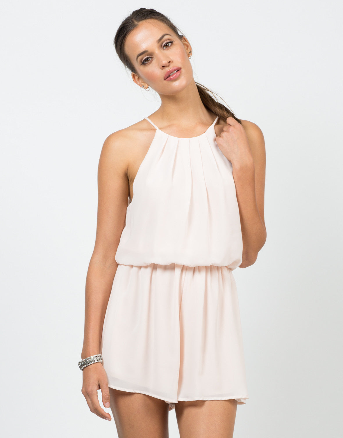 Front View of Gone With The Flow Romper