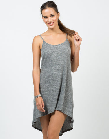 Front View of Simple Low Back Tank Dress