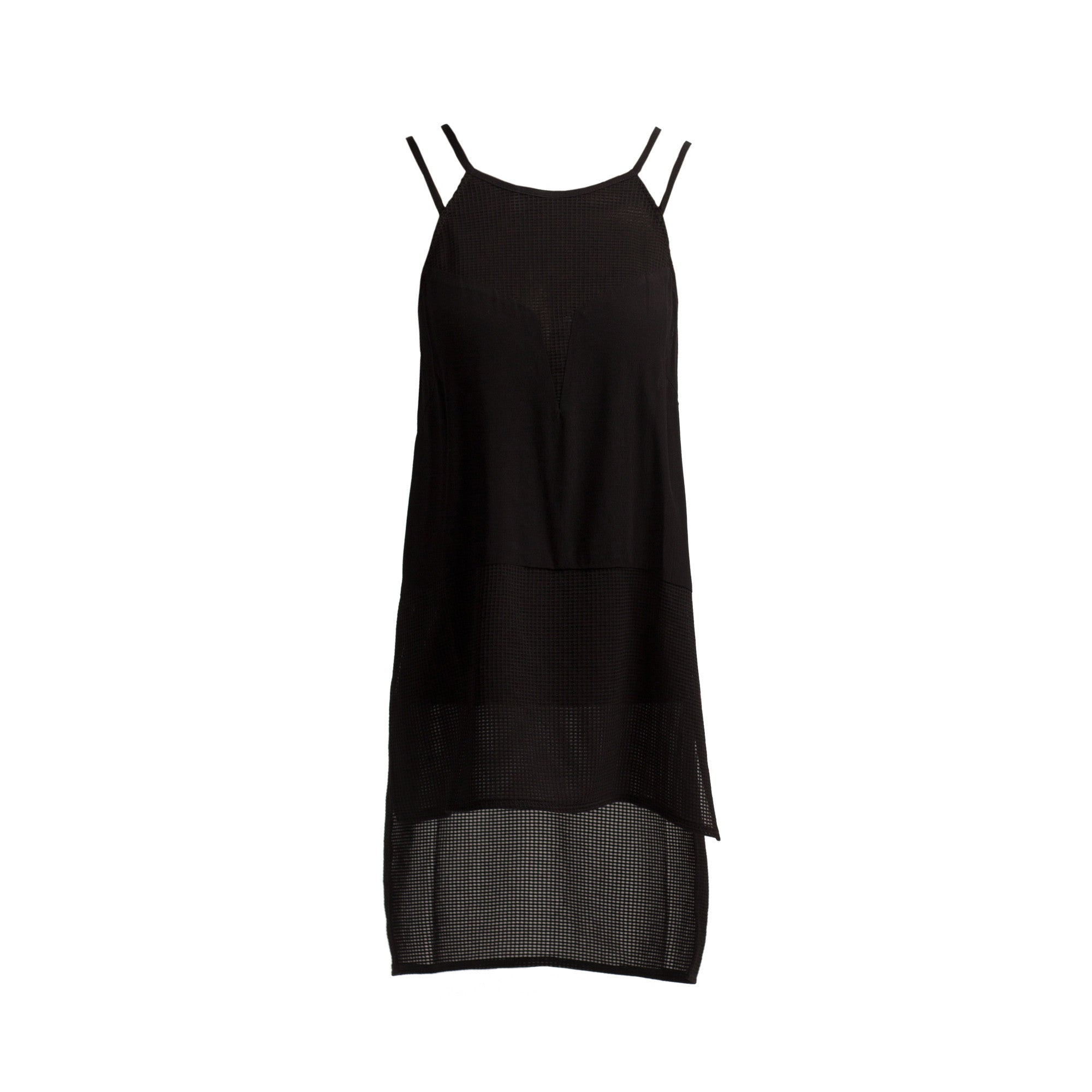 Mesh Contrast Strappy Tank - 2020AVE