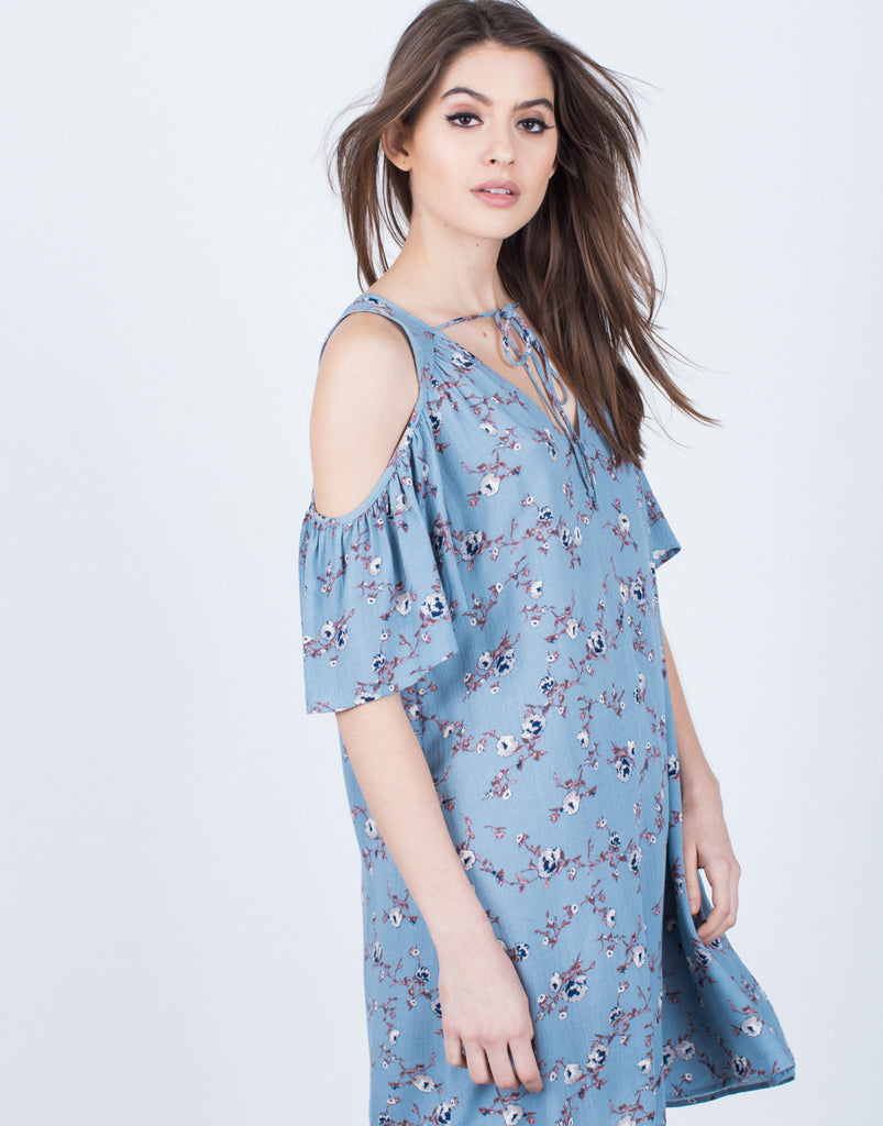 Tied Up Floral Dress Dresses -2020AVE