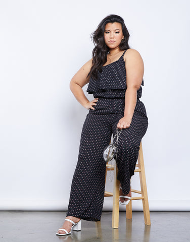 Plus Size Jevan Dotted Pants