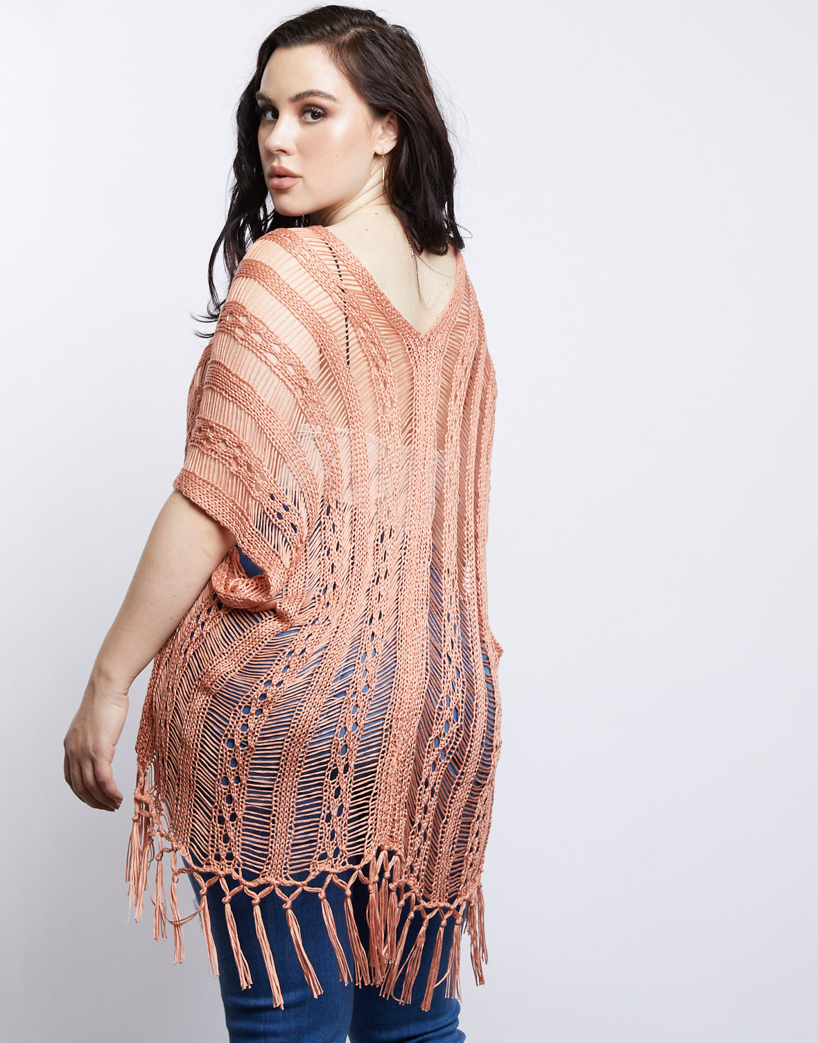 Plus Size Forever Yours Knitted Poncho