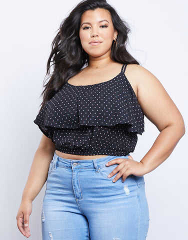 Plus Size Jevan Dotted Top