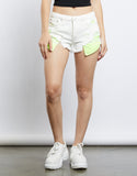Neon Lights Denim Shorts