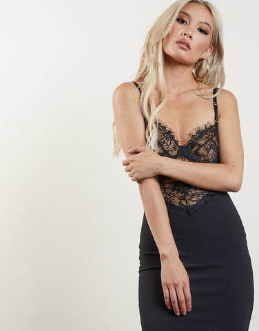 New Romance Lace Bodycon Dress
