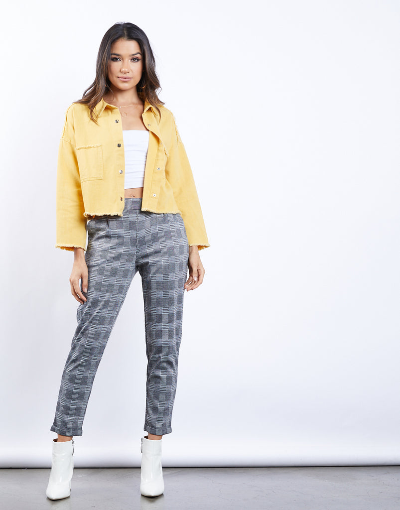 Off The Grid Plaid Pants Bottoms -2020AVE