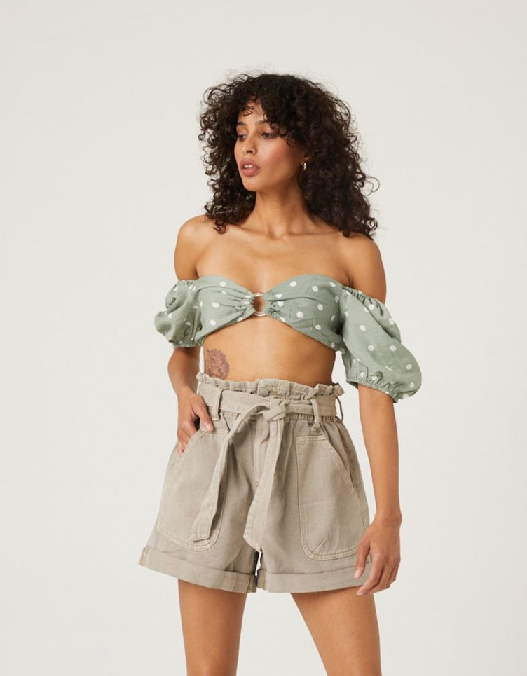 Oh Honey Lace-Up Milkmaid Top Tops -2020AVE