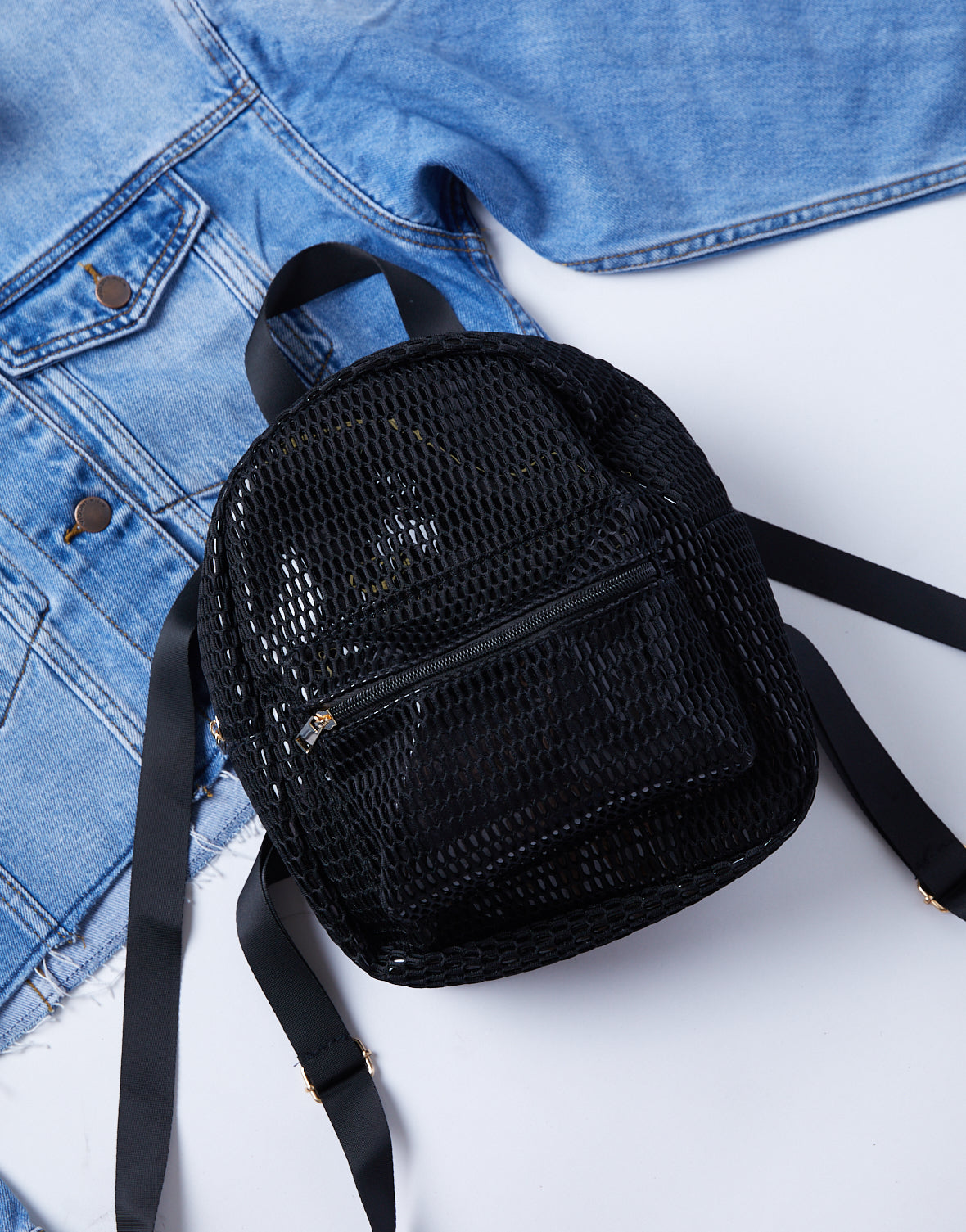 On The Go Mesh Backpack