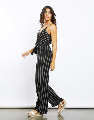 On The Road Vertical Striped Jumpsuit