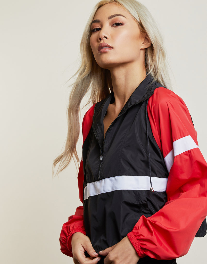 On Track Colorblock Windbreaker Outerwear -2020AVE