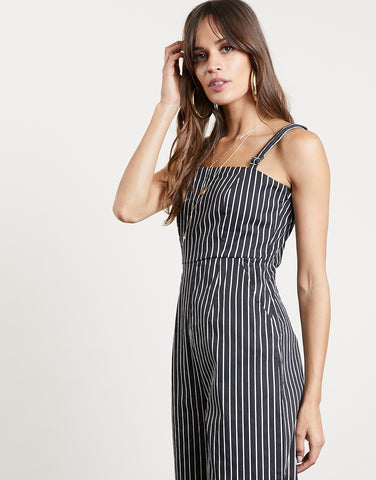 One And Done Striped Jumpsuit