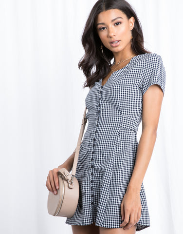 Out To Brunch Gingham Dress