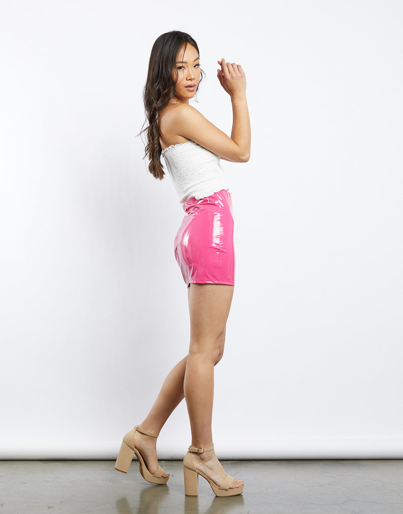 Outta Space Neon Latex Skirt Bottoms -2020AVE