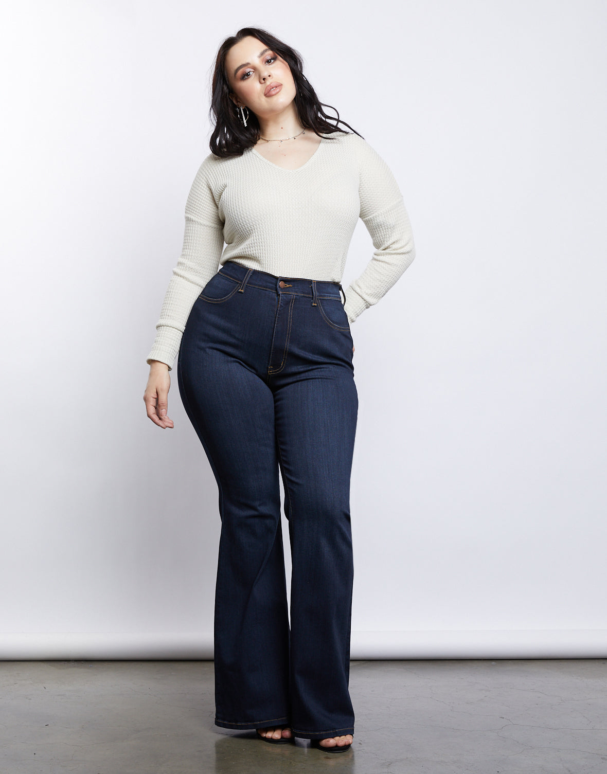 7a0fb48fd54 Plus Size 70s Girl Flared Jeans - plus size bell bottom jeans – 2020AVE