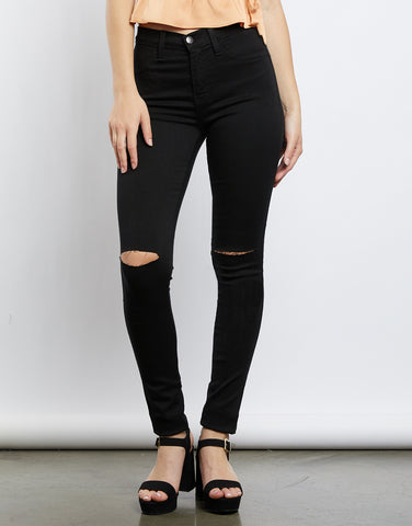 Uptown Girl Black High Waisted Jeans