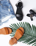 Palm Trees and Sunset Buckle Sandals
