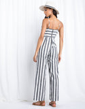 Paradise Calling Striped Jumpsuit