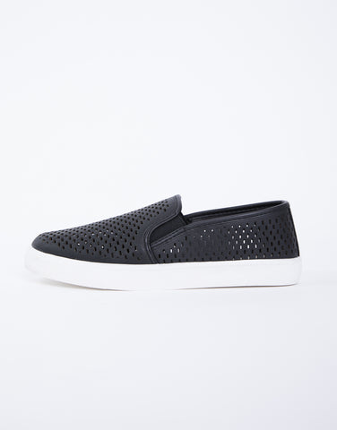 Perforated Slip-On Sneakers