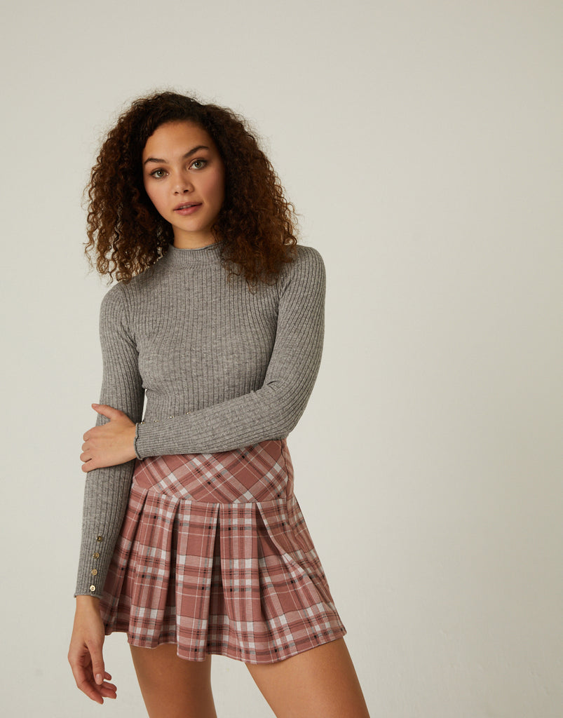 Sweater Weather Cable Knit Top Tops -2020AVE