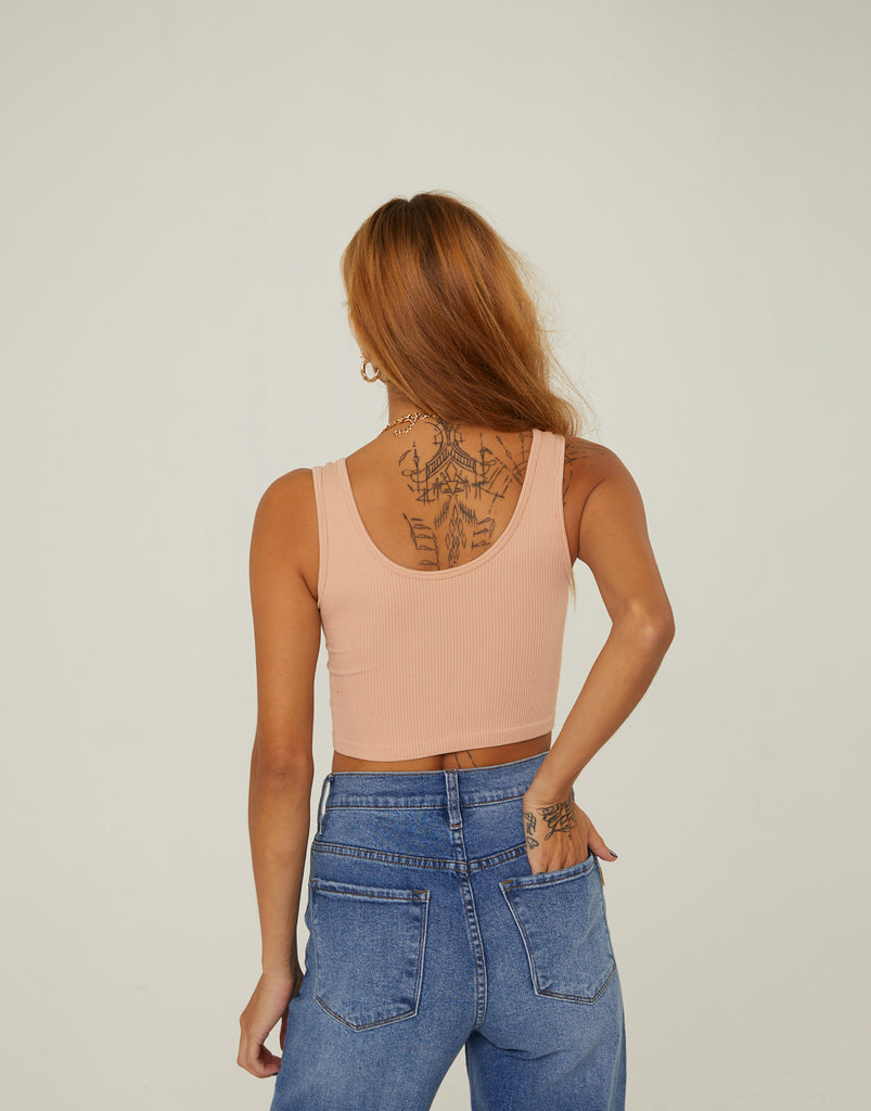 Ribbed Cropped Tank Top Tops -2020AVE