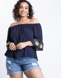 Plus Size Audrey Off The Shoulder Top