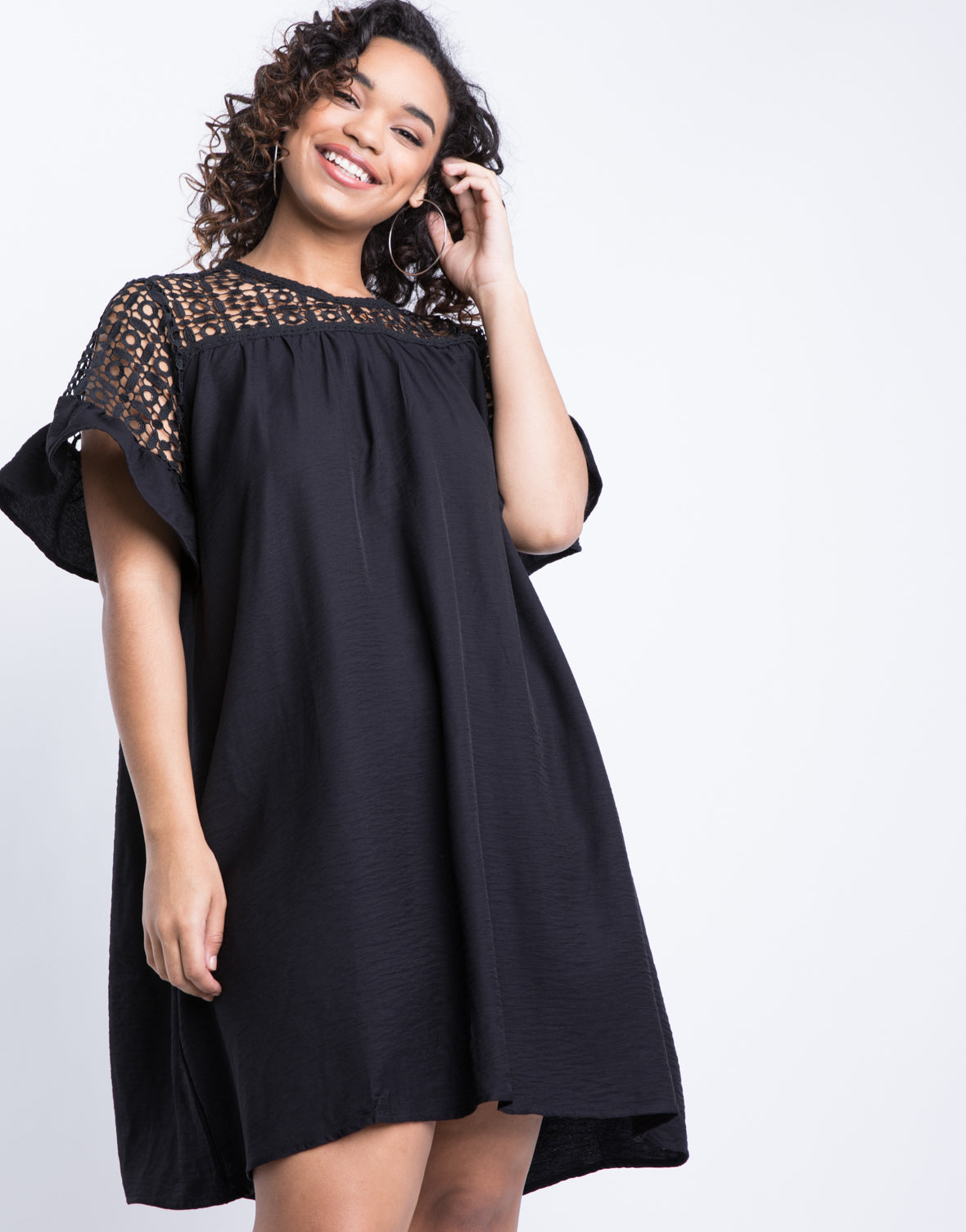 b74a01900dd2d Plus Size Crochet Little Black Dress – 2020AVE