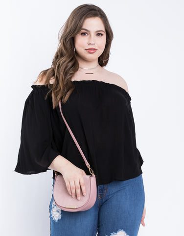 Plus Size Flowy Off The Shoulder Top