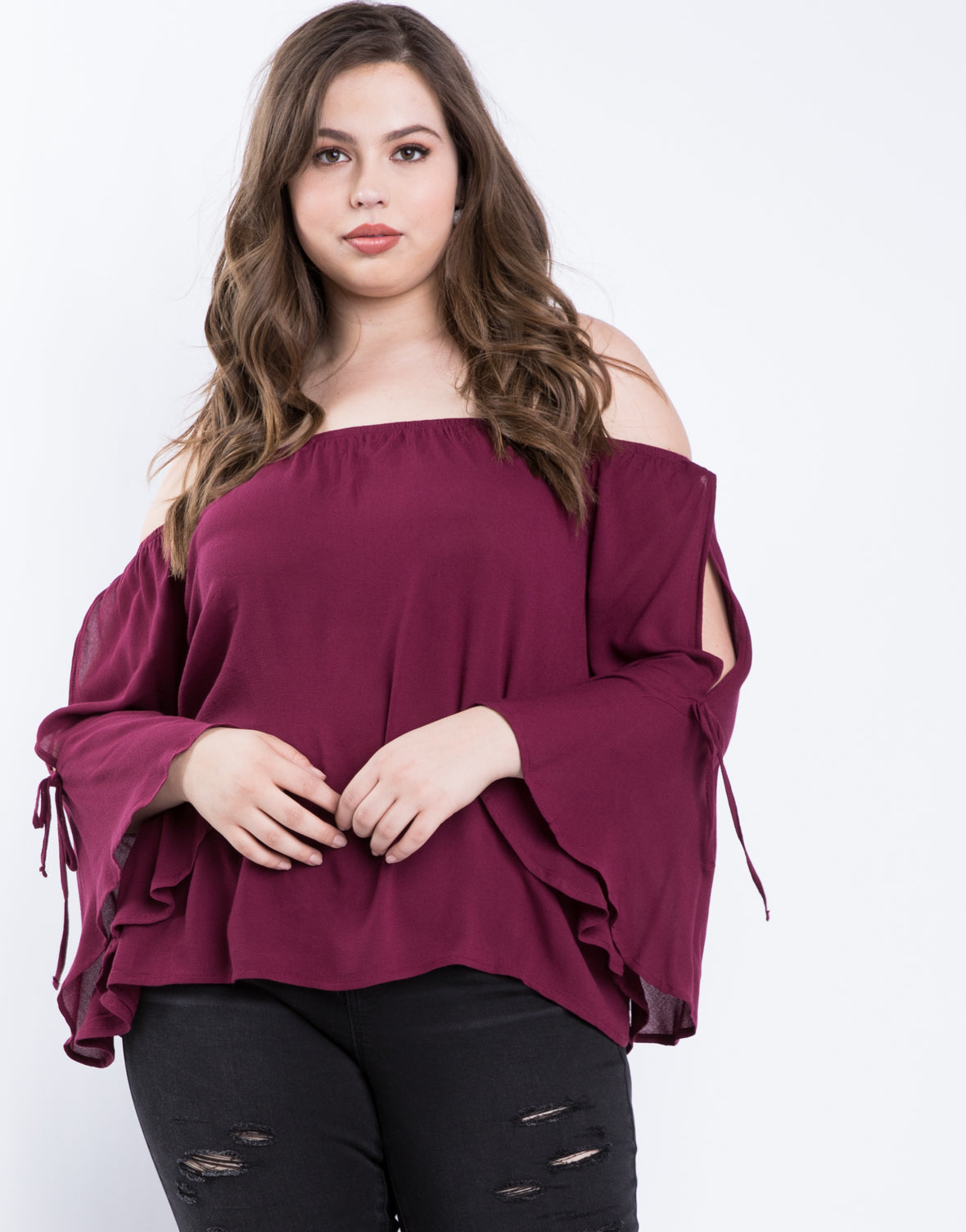 Plus Size Jennifer Bell Sleeve Top