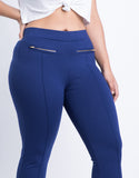Plus Size Lined Up Zipper Leggings