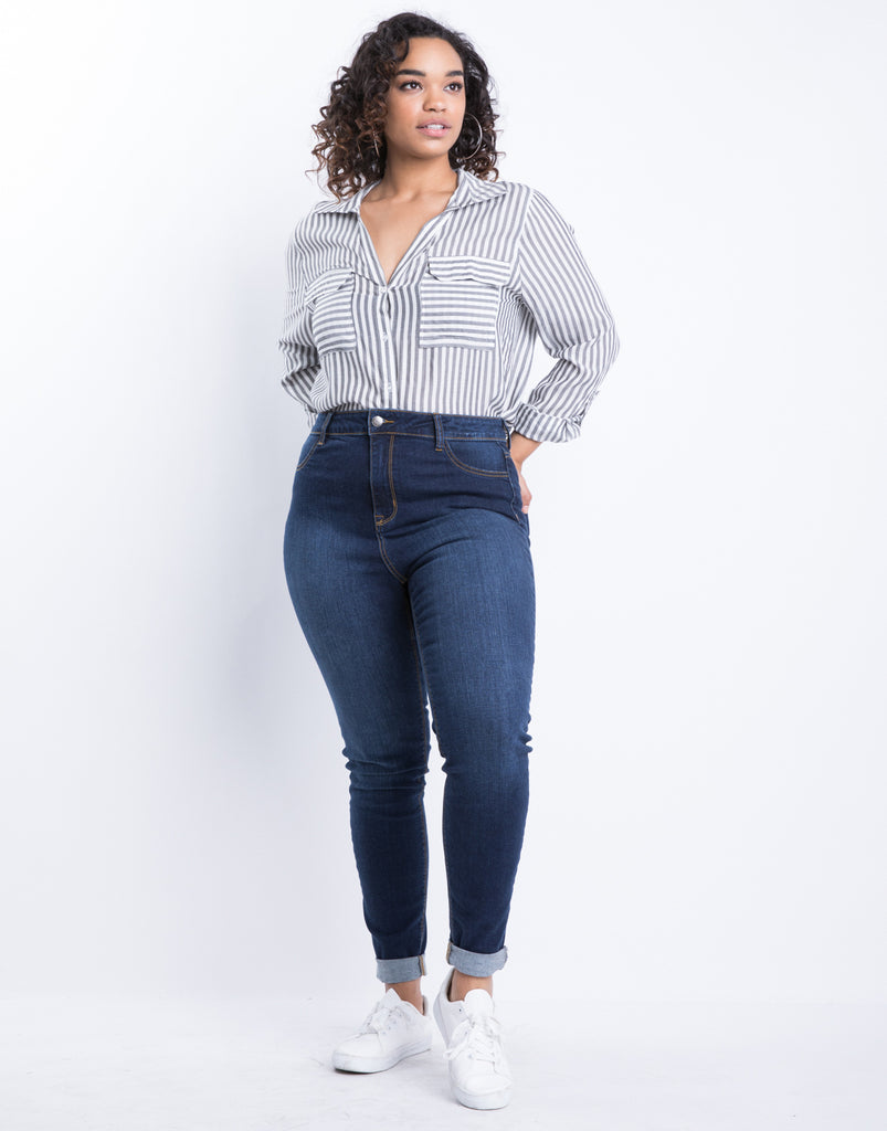 Curve Your Perfect Skinny Jeans Plus Size Bottoms -2020AVE