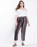 Plus Size Boho Patterned Pants