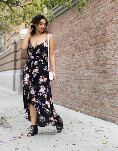 Plus Size Midnight Floral Dress