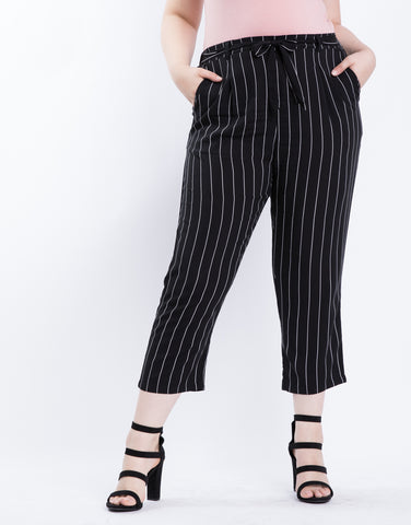 Plus Size Summer Striped Pants