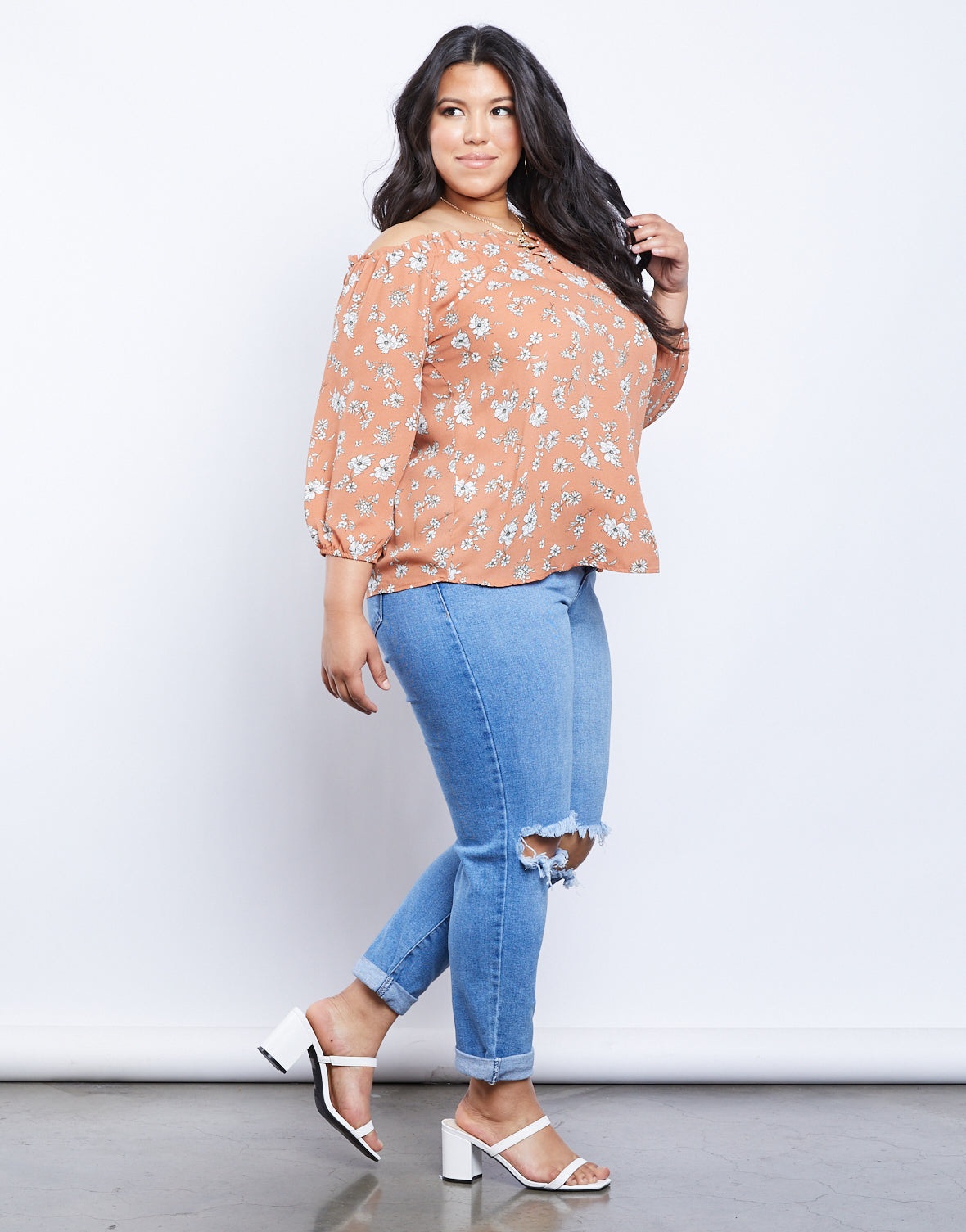 Plus Size Cassandra Floral Top