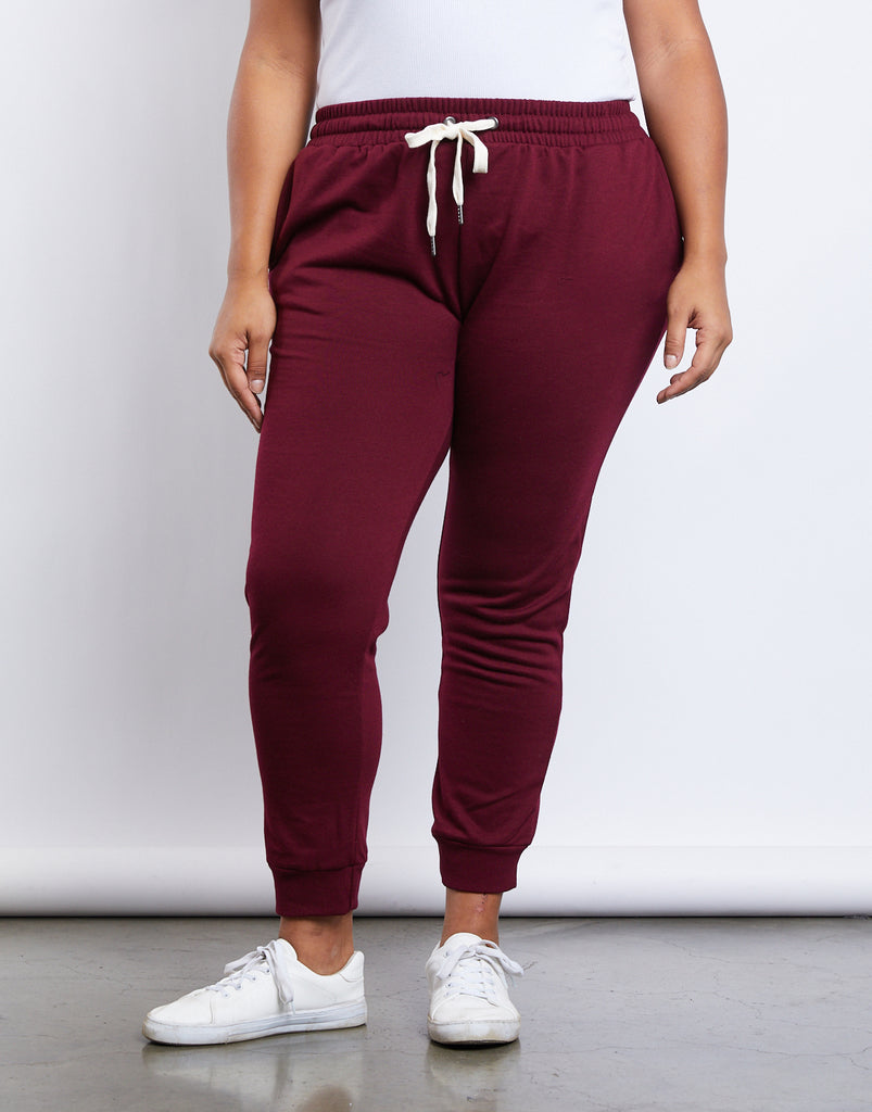 Curve Easy Does It Joggers Plus Size Bottoms -2020AVE