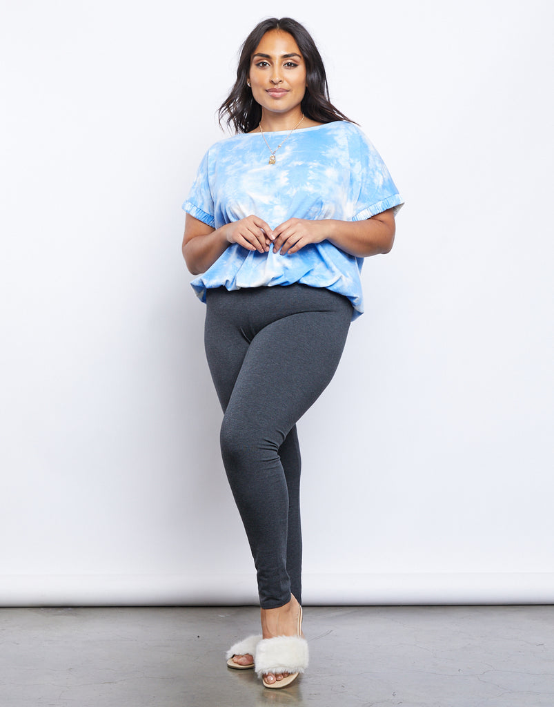 Curve Easy Does It Leggings Plus Size Bottoms -2020AVE