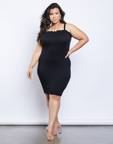 Plus Size Erin Lettuce Edge Dress
