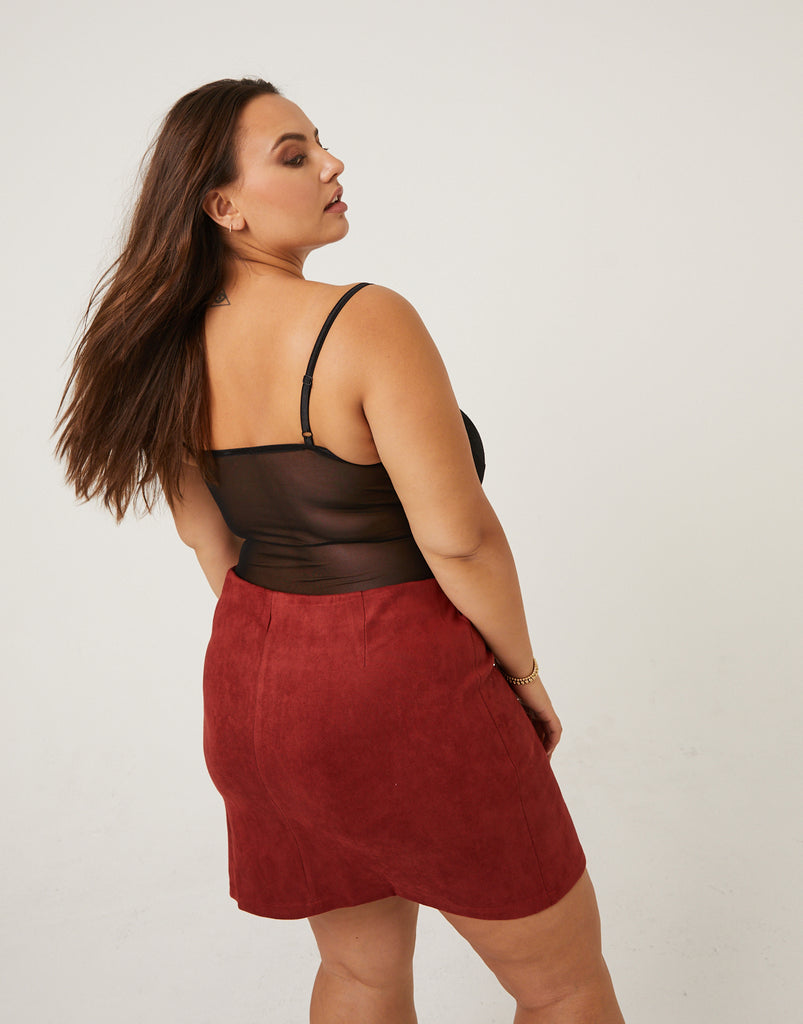 Curve Sheer Lace Bodysuit Plus Size Intimates -2020AVE