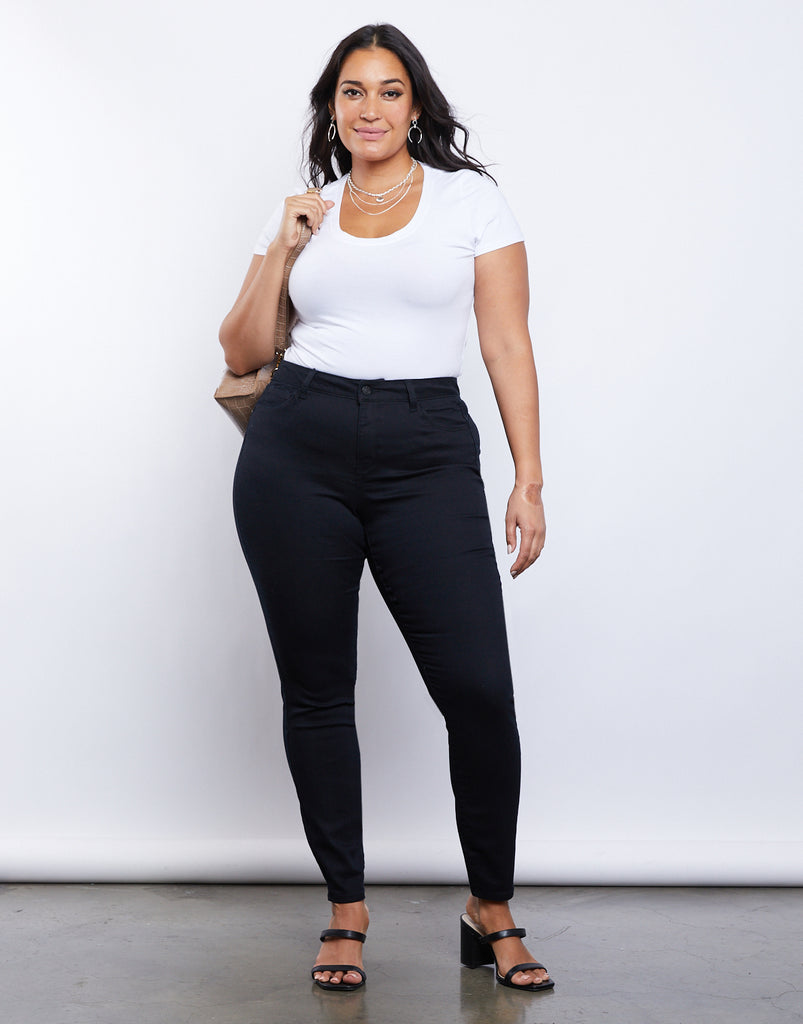 Curve Goddess Skinny Jeans Plus Size Bottoms -2020AVE